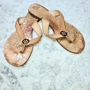 Tory Burch | Thora Leather Monogram Sandals